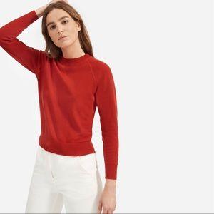 Everlane Red Cashmere Sweatshirt